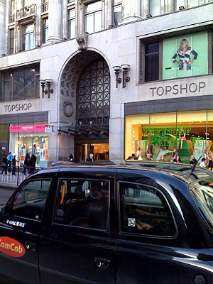 The outside of oxford street london store of T...