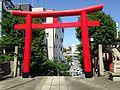 Torii of Tokushima Tenjin Shrine from inner side.JPG