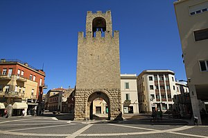 Oristano - Port'a Ponti Door Tower in Piazza Roma