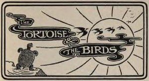 The Tortoise and the Birds - The fable's title, designed by Richard Highway for Jacobs' collection, 1894