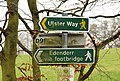 Towpath sign, Belfast - geograph.org.uk - 1639622.jpg