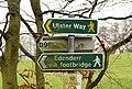 Towpath sign, Belfast - geograph.org.uk - 1639622.jpg