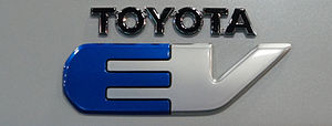 Toyota RAV4 EV - Toyota electric car badge used in the RAV4 EV
