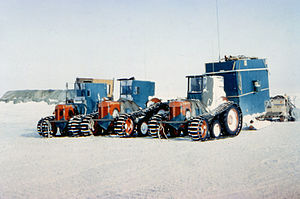 Commonwealth Trans-Antarctic Expedition - Converted Ferguson TE20 tractors used by Edmund Hillary's team on the Commonwealth Trans-Antarctic Expedition.