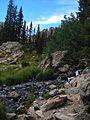 Trail to Emerald Lakes in Rocky Mountain National Park. NPS-Karen Battle-Sanborn (18061487374).jpg