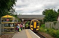Train at Beauly station - geograph.org.uk - 2485422.jpg