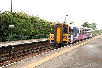 Saxilby railway station - Northern Rail Class 153 train at Saxilby