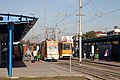 Tram in Sofia in front of Central Railway Station 2012 PD 070.jpg