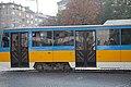 Tram in Sofia near Russian monument 081.jpg
