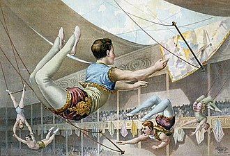 Flying trapeze - Flying trapeze artists