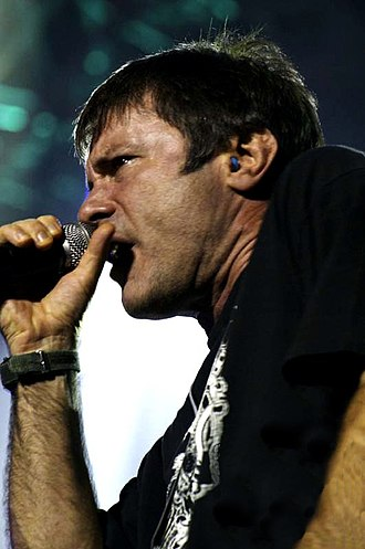 Bruce Dickinson - Dickinson performing with Tribuzy in São Paulo, 11 November 2005. The performance was recorded for a live album, entitled Execution – Live Reunion.