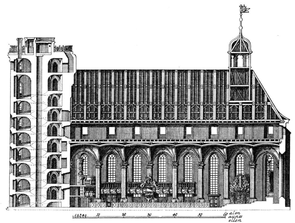 Trinitatis Kirke (Eglise de la Trinité) à Copenhague avec la Tour Ronde à gauche.