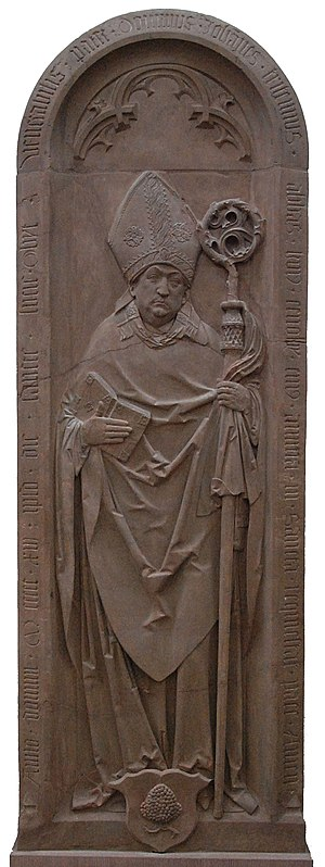 Johannes Trithemius - Tomb relief of Johannes Trithemius by Tilman Riemenschneider