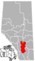 Trochu, Alberta Location.png