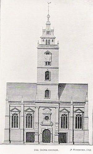 John Mylne (1611–1667) - The Tron Kirk, Edinburgh, as it appeared in the late 18th century