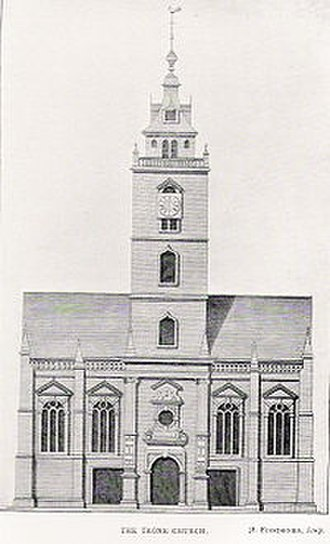 Tron Kirk - Engraving of the kirk as it looked before 1785