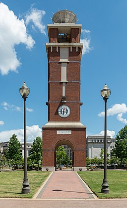 Troy University, Montgomery, Bell Tower 20160713 1