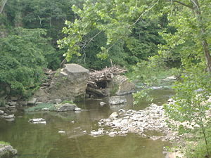 John Work House and Mill Site - Image of Fourteen Mile Creek near Tunnel Mill, 2011