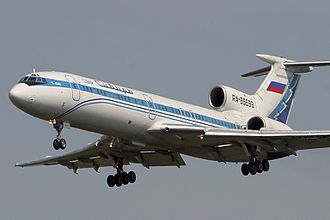 Siberia Airlines Flight 1812 - A Siberia Airlines Tupolev Tu-154M, similar to that involved in the incident.