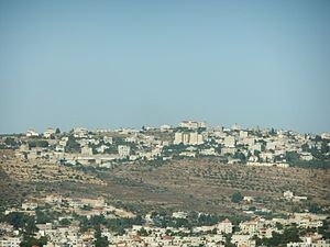 Sinjil - The lower houses are Turmus Ayya, the houses on the top are Sinjil