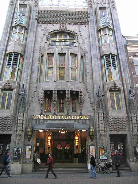 The Tuschinski Theater, founded by Polish-Jewish-Dutch businessman Abraham Icek Tuschinski