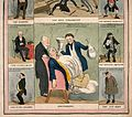 Two British political satirical scenes surrounded by eight Wellcome V0011358.jpg