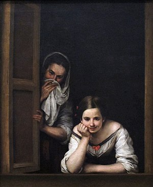 Bartolomé Esteban Murillo - Image: Two women at a window by bartolome esteban murillo
