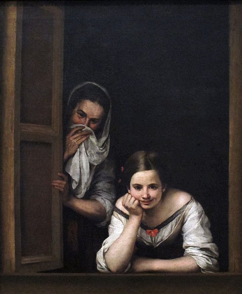 File:Two women at a window by bartolome esteban murillo.jpg