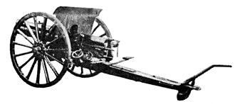 Type 41 75 mm cavalry gun - Rear view of a Type 41 cavalry gun