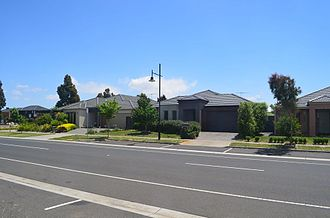 Point Cook, Victoria - A typical residential street in Point Cook.