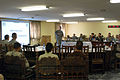 U.S. Army Col. Don Galli, commander of the 3rd Combat Aviation Brigade, Task Force Falcon (TF), speaks to attendees of the TF-Falcon Air Threat Conference at Bagram Airfield, Afghanistan, Sept 100903-A-BL368-002.jpg
