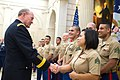 U.S. Army Gen. Martin E. Dempsey, chairman of the Joint Chiefs of Staff, meets U.S. Marines assigned to the U.S. Embassy in Paris, Sept. 17, 2014 140917-D-VO565-006.jpg