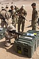 U.S. Marines assigned to Battalion Landing Team, 3rd Battalion, 2nd Marine Regiment, 26th Marine Expeditionary Unit conduct weapon familiarization training with British marines in Al Humayma, Jordan, June 9 130609-M-BS001-012.jpg