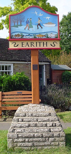 English: Signpost in Earith