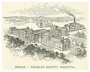 Hospitals in Omaha, Nebraska - The original 1887 Douglas County Hospital located on the site of the Douglas County Poor Farm.