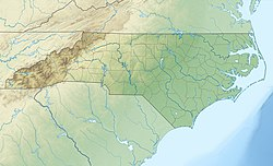 Location of Lake Mattamuskeet in North Carolina, USA.