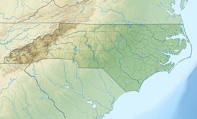 Location map USA North Carolina