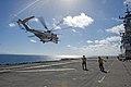 USS Bonhomme Richard conducts flight operations. (9420271533).jpg