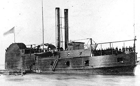 USS Conestoga, a converted gunboat that served on the Mississippi River. USS Conestoga h55321.jpg
