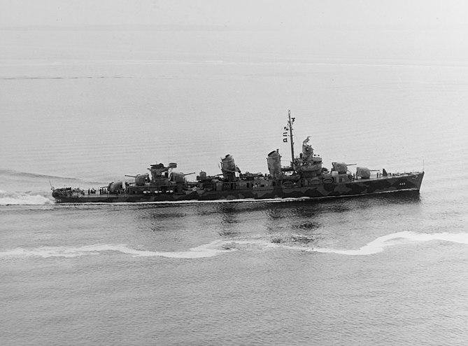 USS Fletcher (DD-445) off New York, 1942