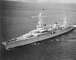USS Houston (CA-30) - Image: USS Houston (CA 30) off San Diego in October 1935