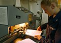 US Navy 020629-N-4748O-001 Lithographer at work aboard ship.jpg
