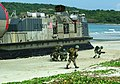 US Navy 040708-N-1050K-023 Royal Thai Marines storm ashore from a U.S. Navy Landing Craft Air Cushioned (LCAC) during an amphibious raid event as part of the Thailand phase of exercise Cooperation Afloat Readiness and Training.jpg