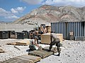 US Navy 050429-N-1210B-001 Sailors assigned to Naval Mobile Construction Battalion (NMCB) One (Seabees) prepare framing for storing gear and equipment prior to returning home.jpg