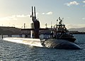 US Navy 051110-N-0879R-003 The Los Angeles-class fast attack submarine USS Key West (SSN 722) arrives in Pearl Harbor, Hawaii, following a regularly scheduled Western Pacific deployment.jpg