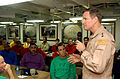 US Navy 060227-N-4776G-103 Commander, U.S. Naval Forces Central Command, Vice Adm. Patrick M. Walsh, speaks to a group of chief petty officers.jpg