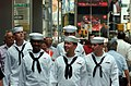 US Navy 060528-N-4936C-014 Sailors enjoy a lighter moment while walking in Times Square during Fleet Week New York 2006, Fleet Week has been sponsored by New York City since 1984.jpg