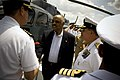 US Navy 090504-N-5549O-161 Acting Secretary of the Navy the Honorable BJ Penn is welcomed aboard the Colombian Navy frigate ARC Almirante Padilla (FM 51) during the 50th iteration of UNITAS Gold.jpg