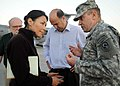 US Navy 100115-N-6070S-030 Lt. Gen. P.K. Keen, deputy commander of U.S. Southern Command, talks about humanitarian aid distribution with Ann Curry of NBC News at the Port-au-Prince National Airport in Port-au-Prince, Haiti.jpg