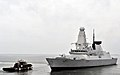 US Navy 110627-N-AH647-008 The Royal Navy destroyer HMS Dauntless (D 33) separates from a tug during its departure from Naval Station Norfolk to ta.jpg